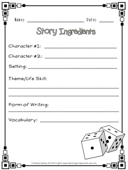 Roll of the Dice Writing {U.S. History}