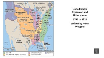 US History and Expansion 1785-1829 Read Aloud Adaptive Text