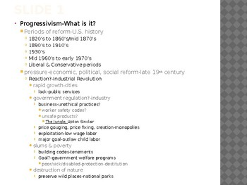 US History from 1865/1877, powerpoint lecture,ch.20, The Progressive Era