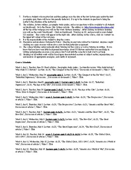 US History from 1865/1877, syllabus