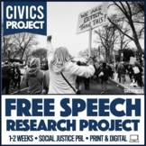 US History or Civics Government Free Speech Protest Mini Unit
