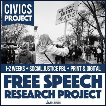 US History or Civics Government Free Speech Protest Mini Unit