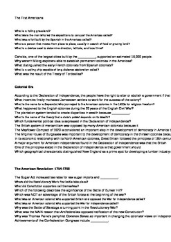 US History over 200 Multiple Choice Question Bank