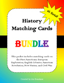 United States History to 1863 Matching Cards Review BUNDLE