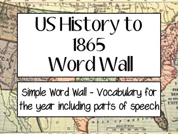 US History to 1865 - World Wall