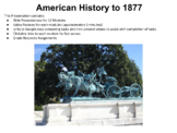 US History to 1877 Remote Learning Lesson Plans