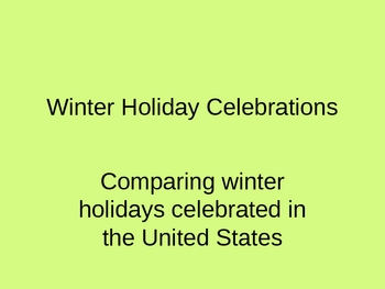 US Holiday Comparison