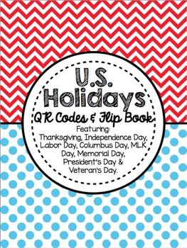 U.S. Holidays - QR Codes and Flip Book