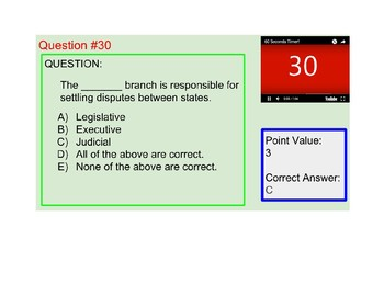 US I #6--Branches of Government Review Royale Game