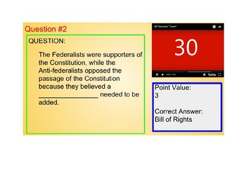 US I #7--The Constitution and Bill of Rights Review Royale Game (Google Slides)