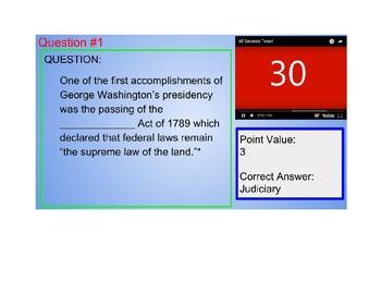 US I #8--Washington's Presidency Review Royale Game