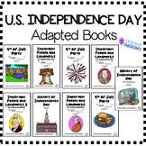US INDEPENDENCE DAY (4th of July) Adapted Books (sped/autism/elementary/middle)