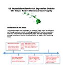 US Imperialism Expansion Debate the Issue: Native Hawaiian Sovereignty