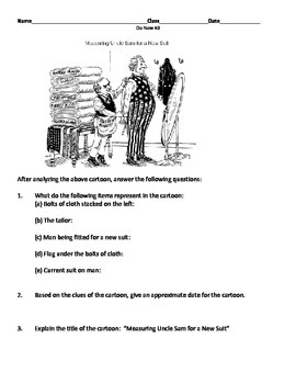 U.S. Imperialism Political Cartoon Worksheet by Set's ...