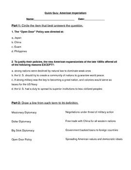 US Imperialism Quick Quiz