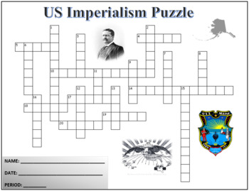 US Imperialism US History Crossword Puzzle Activity Worksheet