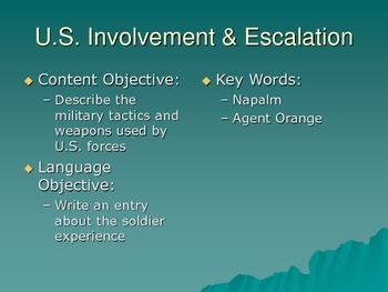 US Involvement & Escalation in Vietnam