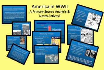 U.S. Involvement In World War Two WWII Lecture Notes & Source Analysis WW2