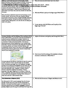 U.S. Involvment in WWI