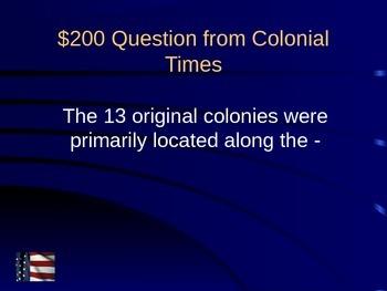 US Jeopardy US History 6-8 Grade Part 1