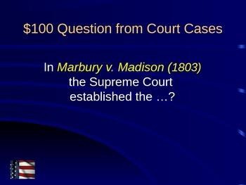 US Jeopardy US History 6-8 Grade Part 2