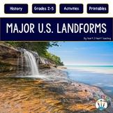 U.S. Landforms with 8 Major Landforms Highlighted