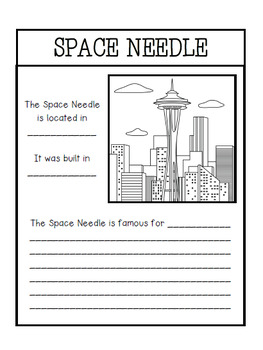 U.S. Landmarks Interactive Notebook Activities
