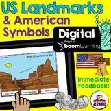 US Landmarks and American Symbols Digital Boom Cards