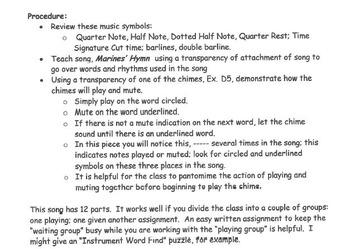 US MARINES' HYMN Easy Chimes & Bells Arrangement FROM THE HALLS OF MONTEZUMA