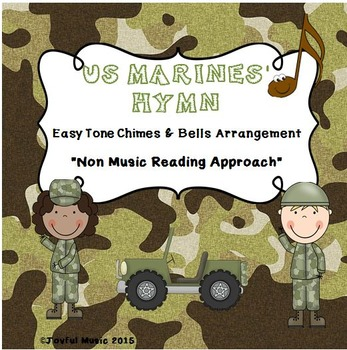 US MARINES' HYMN Easy Chimes & Bells Arrangement FROM THE HALLS OF MONTEZUMA