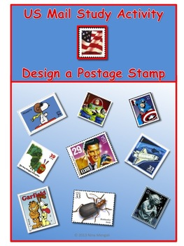 U.S. Mail Study Activity - Design a Postage Stamp