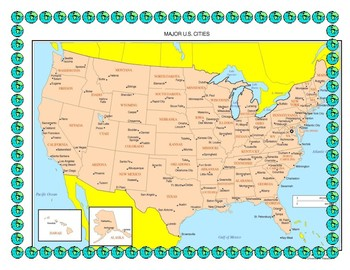 US Major Cities Map Quiz - Locate the Major Cities of the United States