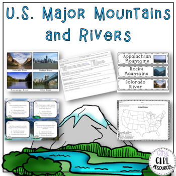 US Major Mountains and Rivers Unit with Lesson Plans