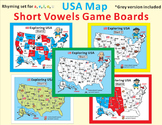 US Map Short Vowel Game Boards
