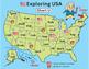US Map Short Vowel Game Boards