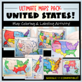 US Maps & Geography- The Ultimate Label & Color Maps Pack!