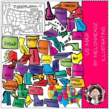 US Map by Melonheadz COMBO PACK