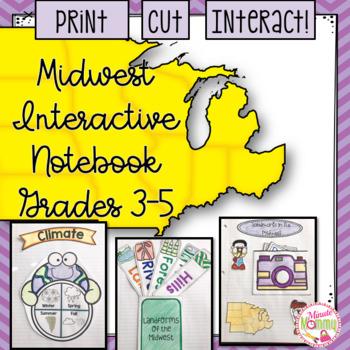 U.S. Midwestern Region Interactive Notebook: Grades 3-5