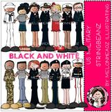 US Military clip art - Stringbeanz -  BLACK AND WHITE- by Melonheadz
