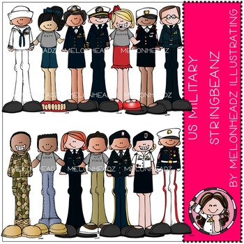 US Military Stringbeanz by Melonheadz  COMBO PACK