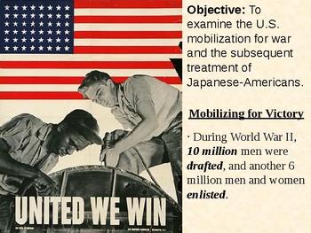 U.S. Mobilization and Japanese Internment PowerPoint Presentation