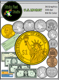 U.S. Money Clip Art Set