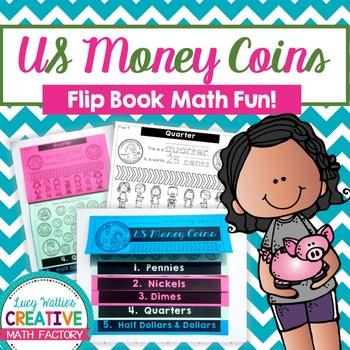 US Money Coins Flip Book | Flipbook | Math | Common Core |