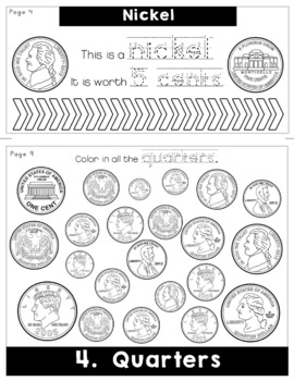US Money Coins Flip Book | Flipbook | Math | Common Core | No Fuss | No Prep