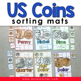 US Money Coins Sorting Mats [6 mats included] | Money Sort