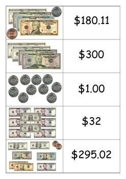 US Money Match-Up Cards