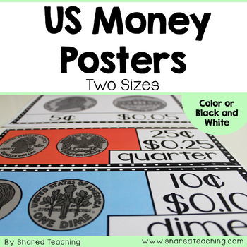 US Money Posters for the Classroom
