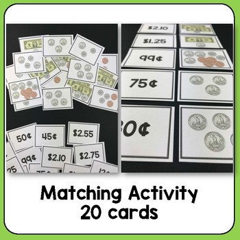 US Money : Puzzle and task cards