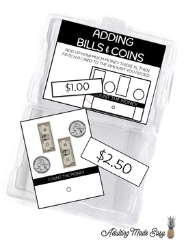 US Money Task Box BUNDLE
