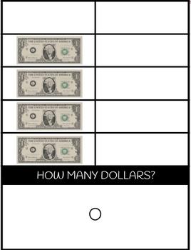 US Money Task Boxes - Counting Dollars & Pennies 10 Frame FREEBIE